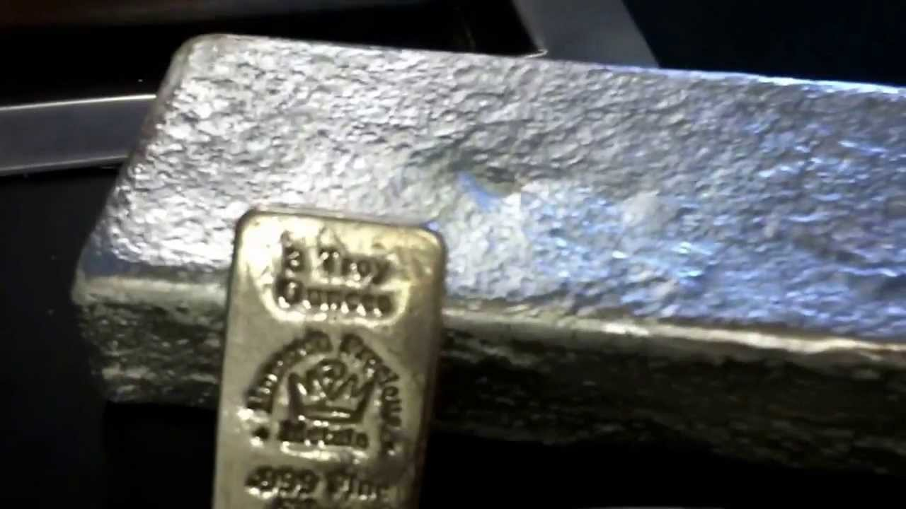 5 Pound Silver Bar At The Refiners 999 Pure Denver Metal Refiner Ask For Brian