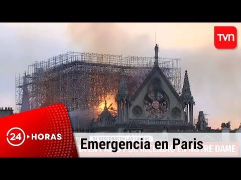 Incendio afecta a la catedral de Notre Dame en París   Francia - #TVNLive