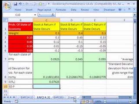 Excel Array Formula Series 144 Stock Portfolio Analysis - YouTube