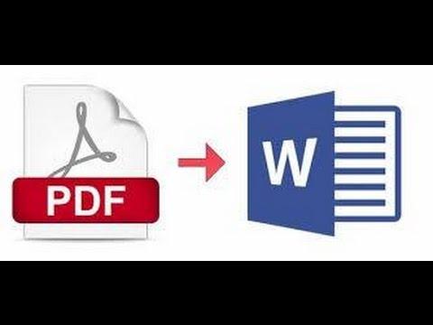como convertir de pdf a word youtube