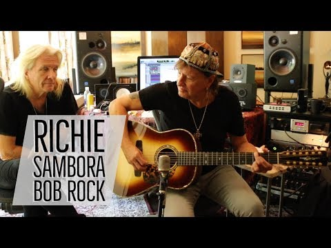 Richie Sambora & Bob Rock with Norm at Richie's Home Studio ...