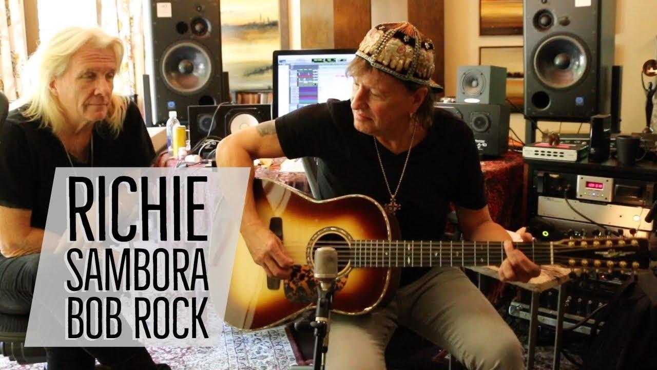 Richie Sambora & Bob Rock with Norm at Richie's Home Studio   Norman's Rare  Guitars