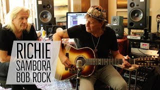 Richie Sambora & Bob Rock with Norm at Richie's Home Studio | Norman's Rare Guitars