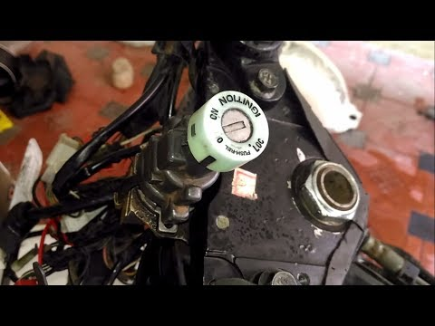 ignition problem - key slot cleaning and lubrication on tvs apache rtr