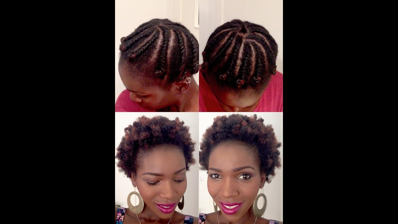 Flat Twist Out On Short Medium Length Natural 4c Hair Youtube