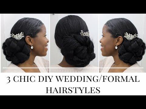 3 Timeless Diy Wedding Formal Hairstyles Natural Hair Misst1806