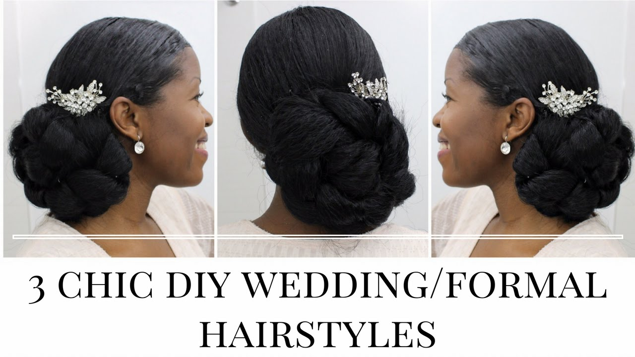 3 timeless diy wedding/formal hairstyles: natural hair | misst1806