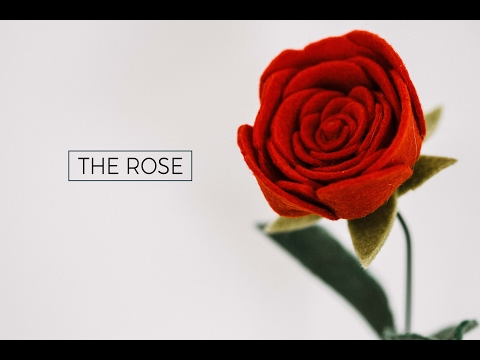 Felt Flower Tutorial DIY: A ROSE (simple + easy!) A Flower Making DIY How-To Video