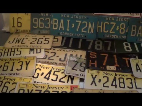 New Jersey License Plates: 1921-2016