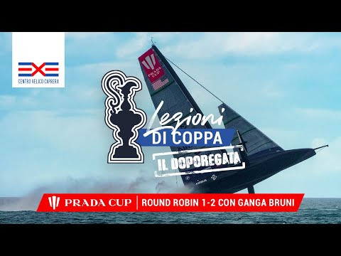 Lezioni di Coppa America 2021. DopoRegata con Ganga Bruni Round Robin 1 e 2 Prada Cup 15-17 Gennaio