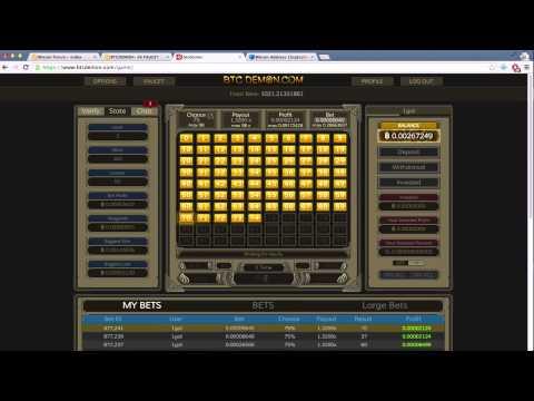 BTCDEMON.com - Pick Your Own Dice Numbers Bitcoin Gambling WIN (no Longer 2k Faucet)