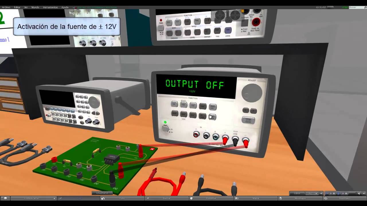Laboratorio de electronica UPM Marzo 2012  YouTube