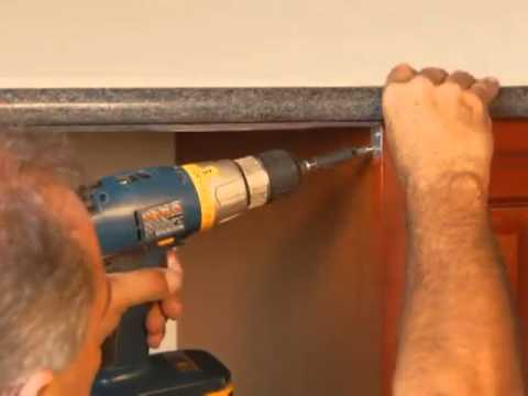 Dishwasher Granite Countertop : Dishwasher Bracket - Instructions - YouTube