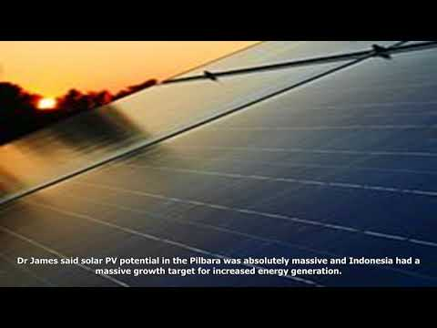 Pilbara solar energy exports to indonesia the focus of new wa study