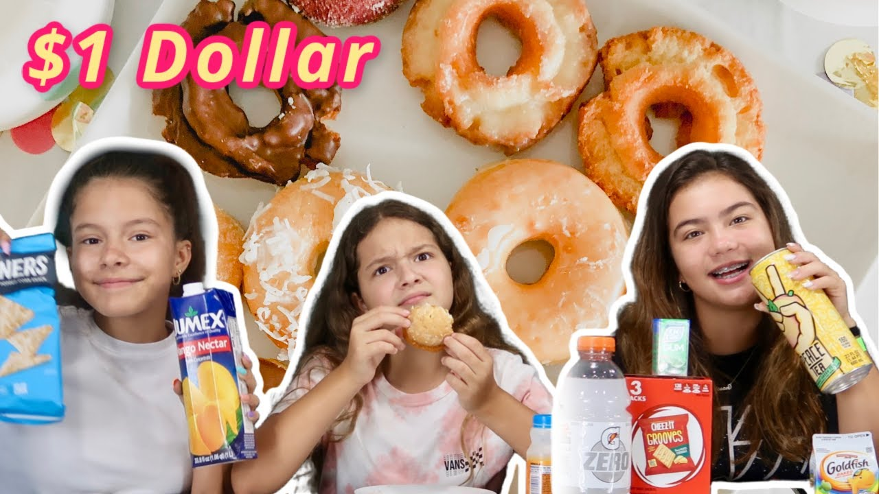 Eating only $1 Dollar food challenge | SISTER FOREVER