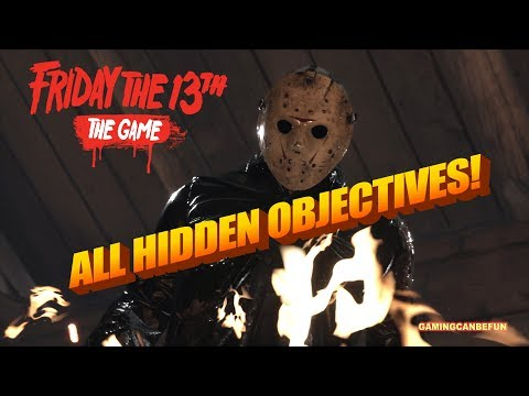 ALL HIDDEN OBJECTIVES IN ALL CHALLENGES | FRIDAY THE 13TH THE GAME (4K 60FPS)