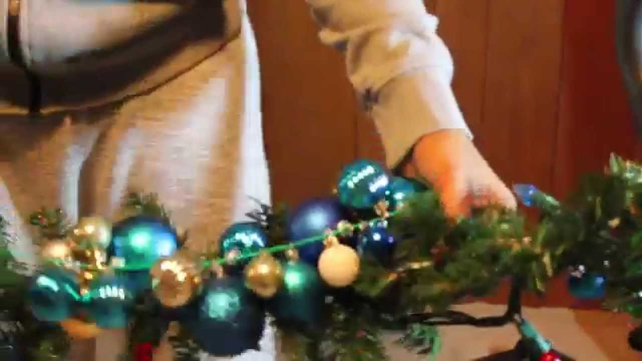 Do it yourself christmas garland easy cheap youtube solutioingenieria