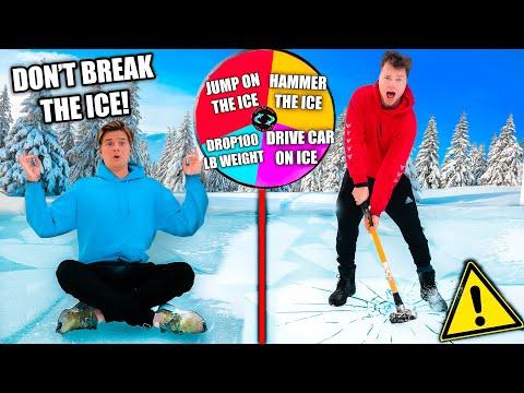 Last To BREAK The ICE Wins POLAR PLUNGE CHALLENGE