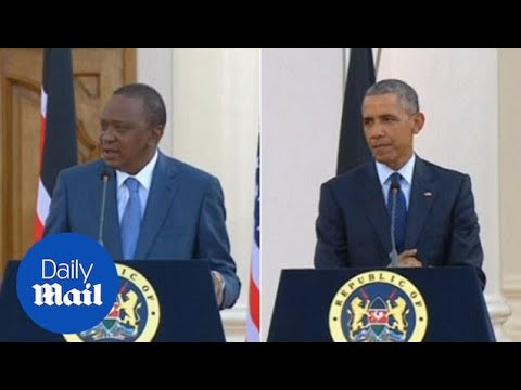 Obama and Kenyan President clash over gay rights in Africa - Daily Mail