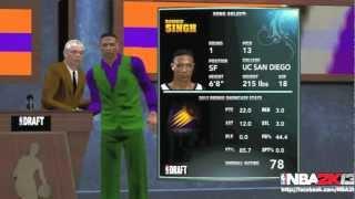 NBA 2k13 MyCAREER Screenshot News - Customizable Suits! Number 1 Draft Pick? #Nba 2k13 My Career