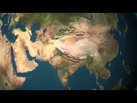Globe animation with Map of Nepal