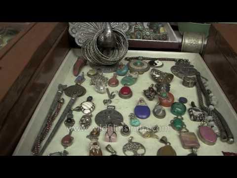 Tibetan jewellery for sale in McLeodganj market