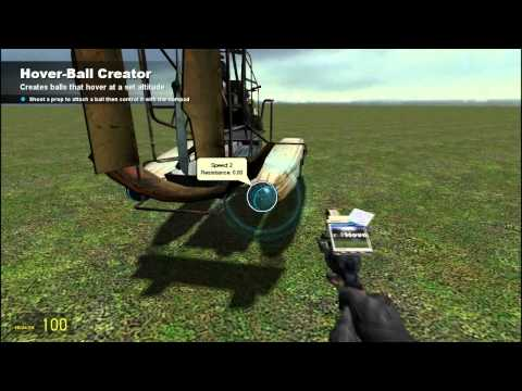 How to make a simple flying airboat on Garrys Mod
