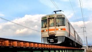 【048】JR東海 313系 普通列車 富士行 潤井川鉄橋にて