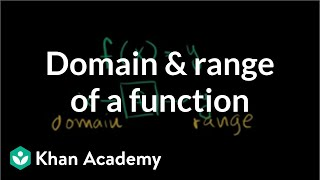 Domain and range of a function | Functions and their graphs | Algebra II | Khan Academy thumbnail