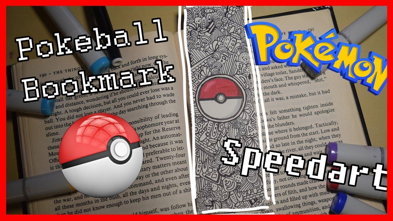 how to make a pokeball bookmark