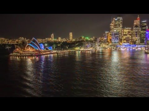 Sydney, Darling Harbour, Australia - night city tour
