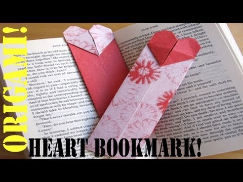 how to make a origami paper bookmark heart sunderorigami youtube. Black Bedroom Furniture Sets. Home Design Ideas