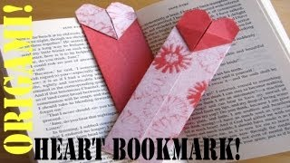 How to Make a (ORIGAMI) Paper: Bookmark Heart - TCGames [HD]