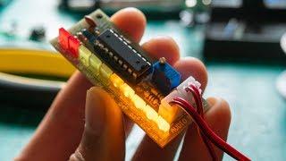 VU meter DIY kit with LEDs | LM3915N-1 LED DRIVER