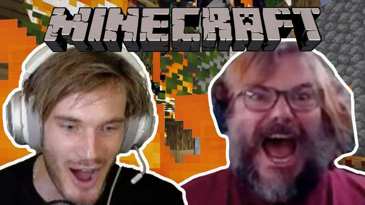 I burned down PewdiePie's Minecraft house