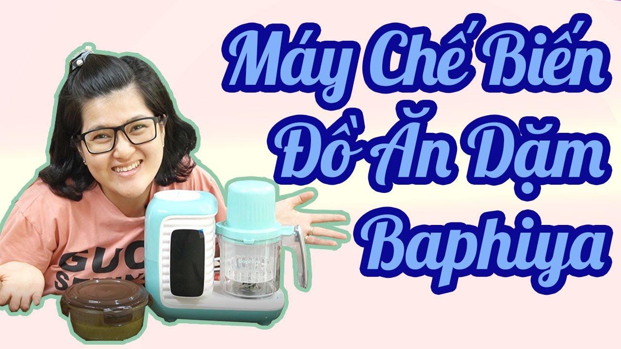 Đập Hộp Máy Xay Hấp Thức Ăn Dặm Đa Năng Baphiya làm đồ ăn dặm, máy tiệt trùng bình sữa, máy hâm sữa