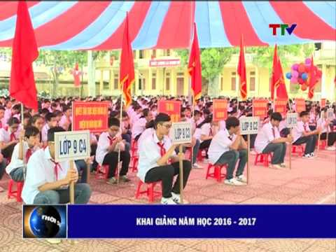 Trường THCS Nguyễn Du, huyện Quảng Xương tổ chức lễ khai giảng năm học mới 2016 – 2017