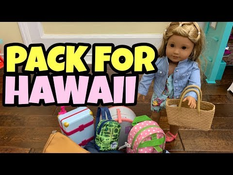 Packing American Girl Doll For Hawaii