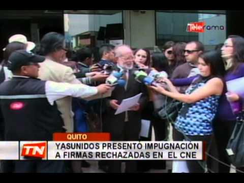 Yasunidos presentó impugnación a firmas rechazadas en el CNE