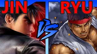 FICTIONAL FIGHTS - Jin VS Ryu