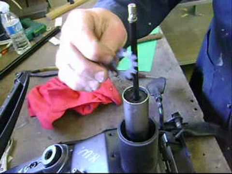 Office chair repair Haworth gas cylinder lift , - YouTube
