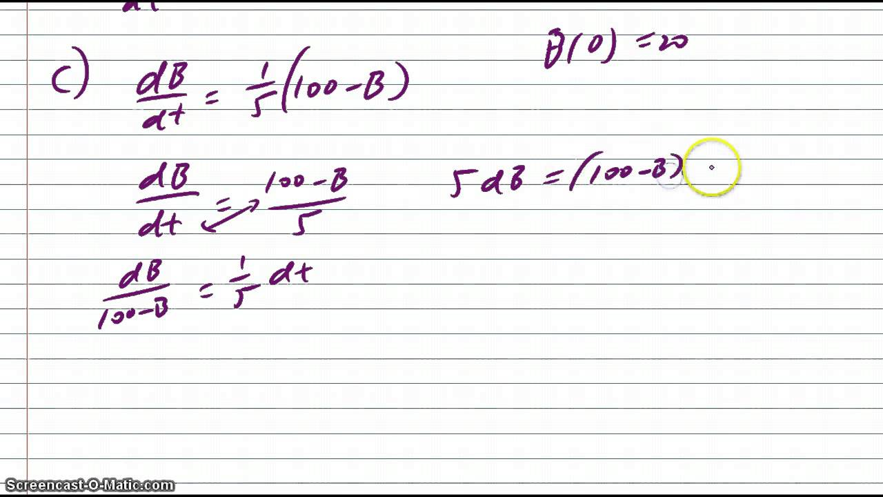 Ab calculus ap 2012 free response solution question 5 youtube ab calculus ap 2012 free response solution question 5 sciox Gallery