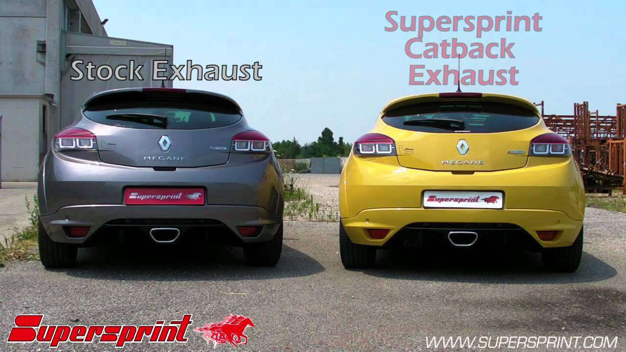 renault megane iii sport 2 0 rs 250 stock vs supersprint catback exhaust youtube. Black Bedroom Furniture Sets. Home Design Ideas