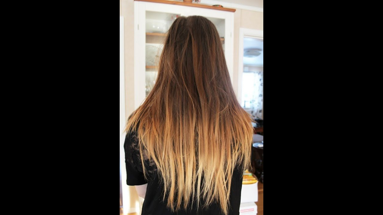 Dirty Blonde Ombre Hair Color Brown To Light With Loose Messy Curls