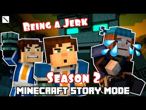 [SEASON 2] Jesse The JERK! Play As a Bad Boy! FULL Minecraft Story Mode Season 2 Episode 1