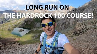 LONG RUN ON THE HARDROCK 100 MILE COURSE! SAGE CANADAY MOUNTAIN RUNNING VLOG