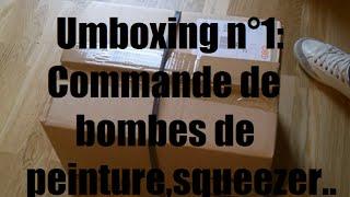 Umboxing N°1 : Commande sur All City de bombes de peinture,Squeezer,Caps,...