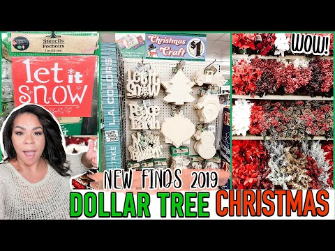DOLLAR TREE CHRISTMAS 2019! FIRST LOOK What's New At The Dollar Store Holiday Edition!