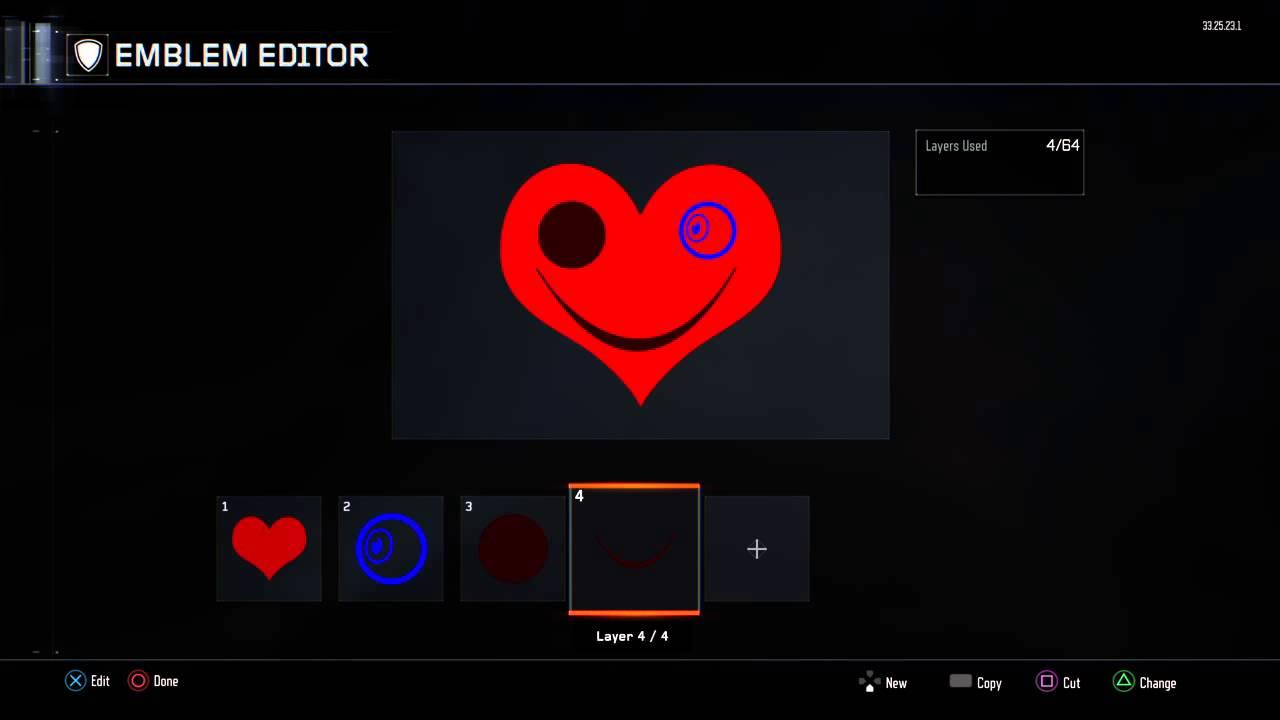 How Make Illuminate Emblem In Black Ops 3 1eye Creepy Demon Heart