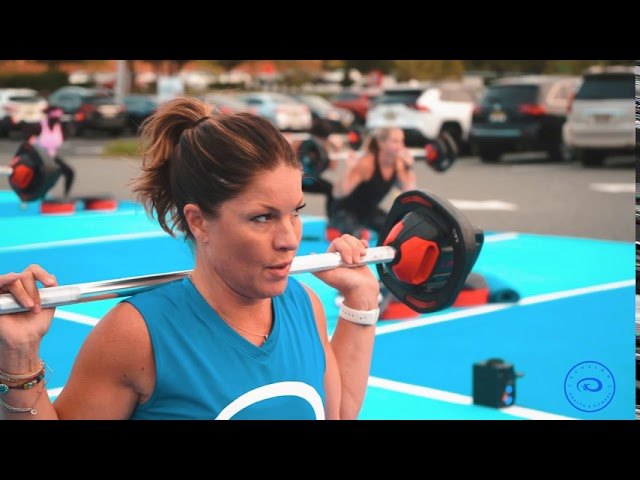 Echelon Health and Fitness, Outside Les Mills Class with Crystal on our new workout area Lotts Gains